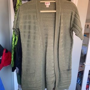 Olive green short sleeve sweater